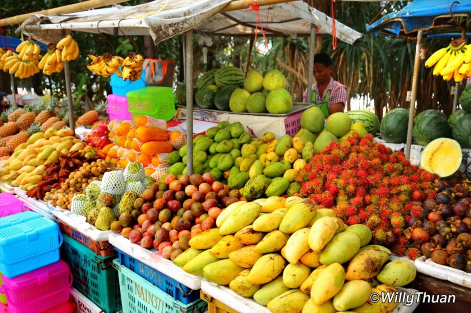 Fruits display on Nai Thon beach