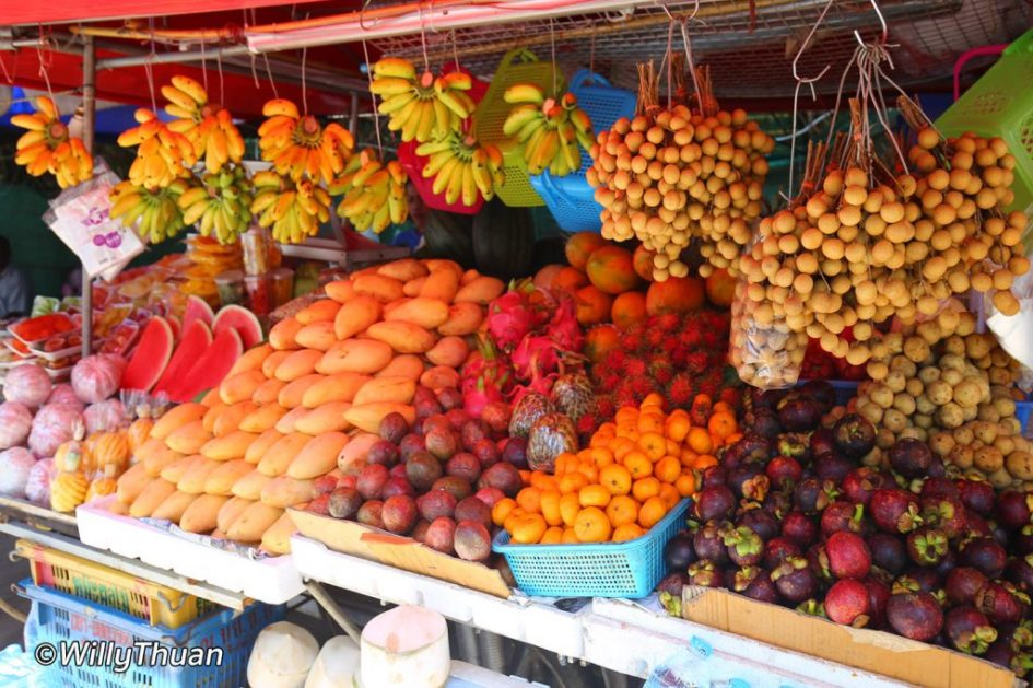 Fruit vendors on the streets of Nai Harn