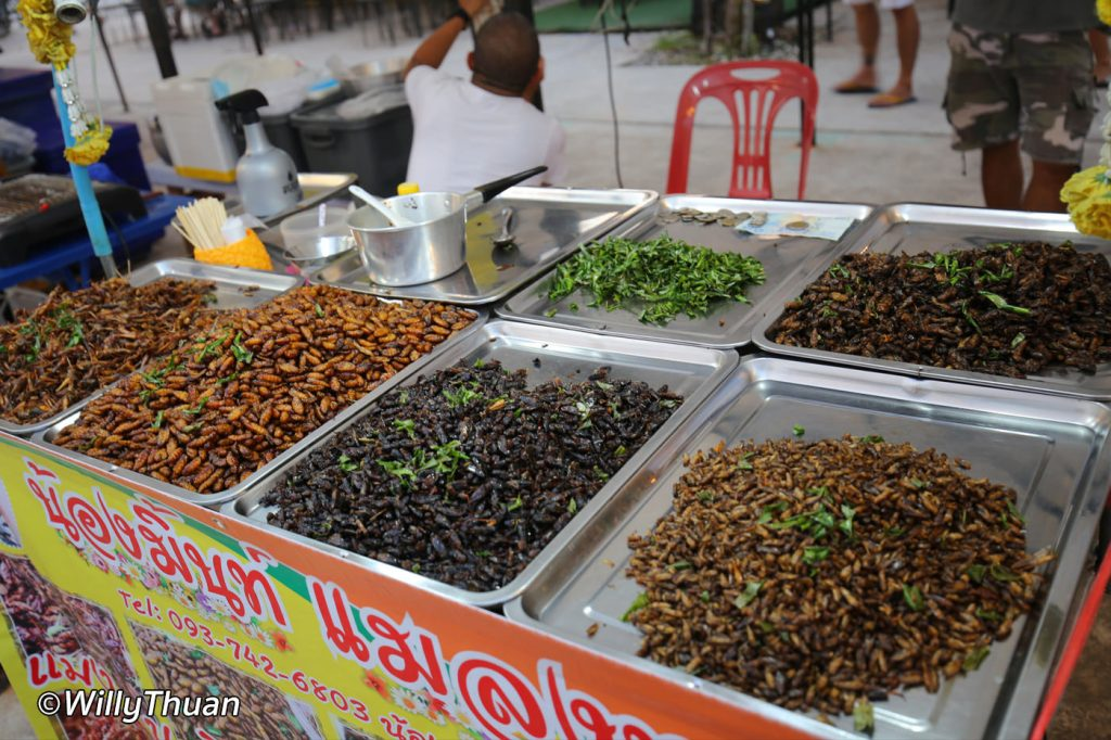 Fried Insects at Chillva Market