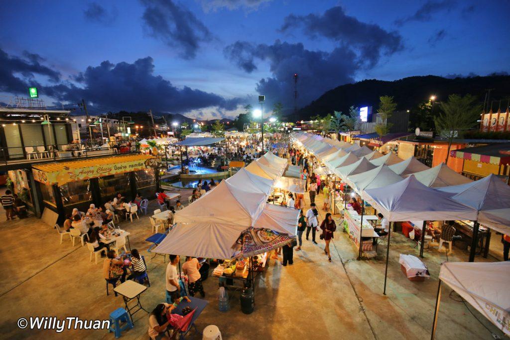 A bird view of the Chillva Market Phuket