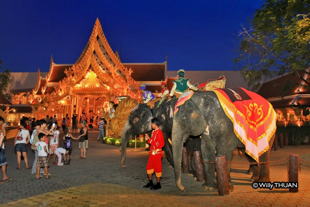 Real Elephants are part of the Phuket Fantasea Show
