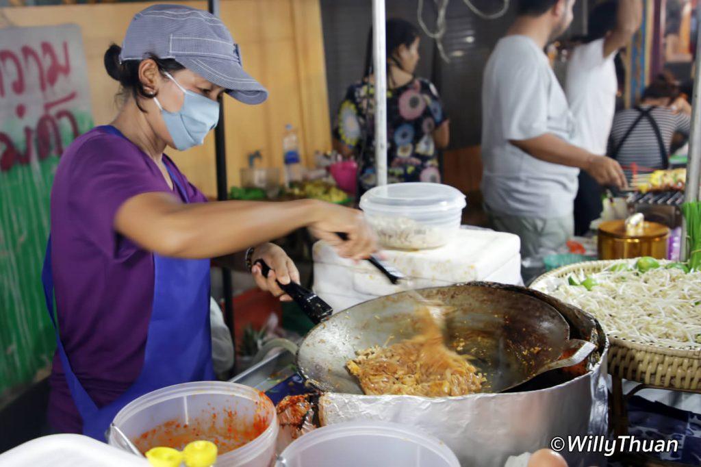 Famous Pad Thai at the Karon Temple Fair