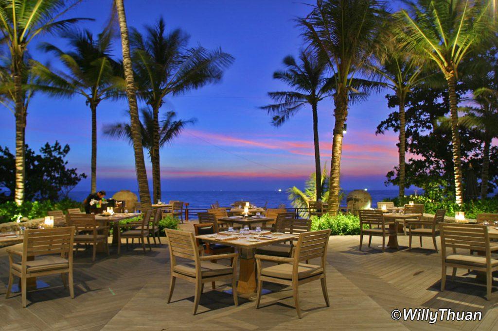 Sunset dinner at Trisara