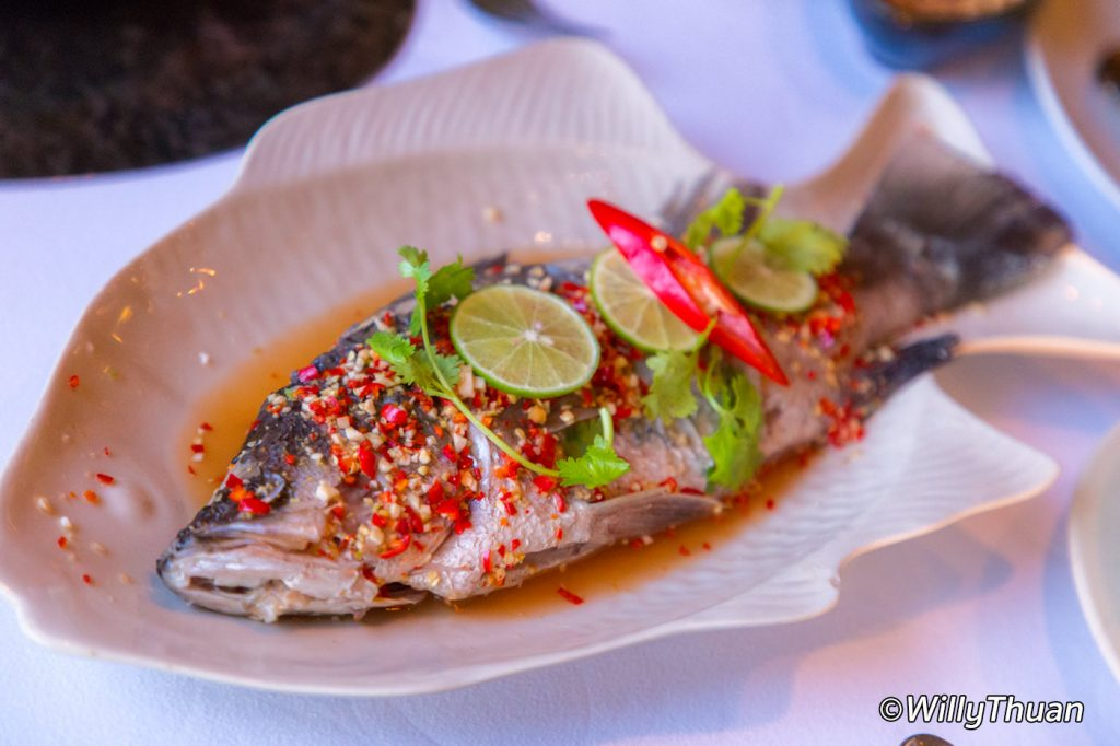 On the rock restaurant phuket thai food in karon beach for Fish 101 menu