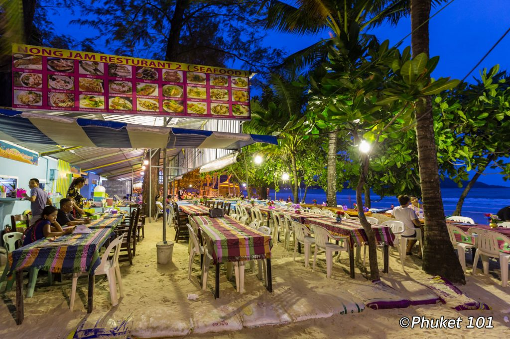 Where can you eat on the beach in phuket phuket 101 for Food 101 bar bistro