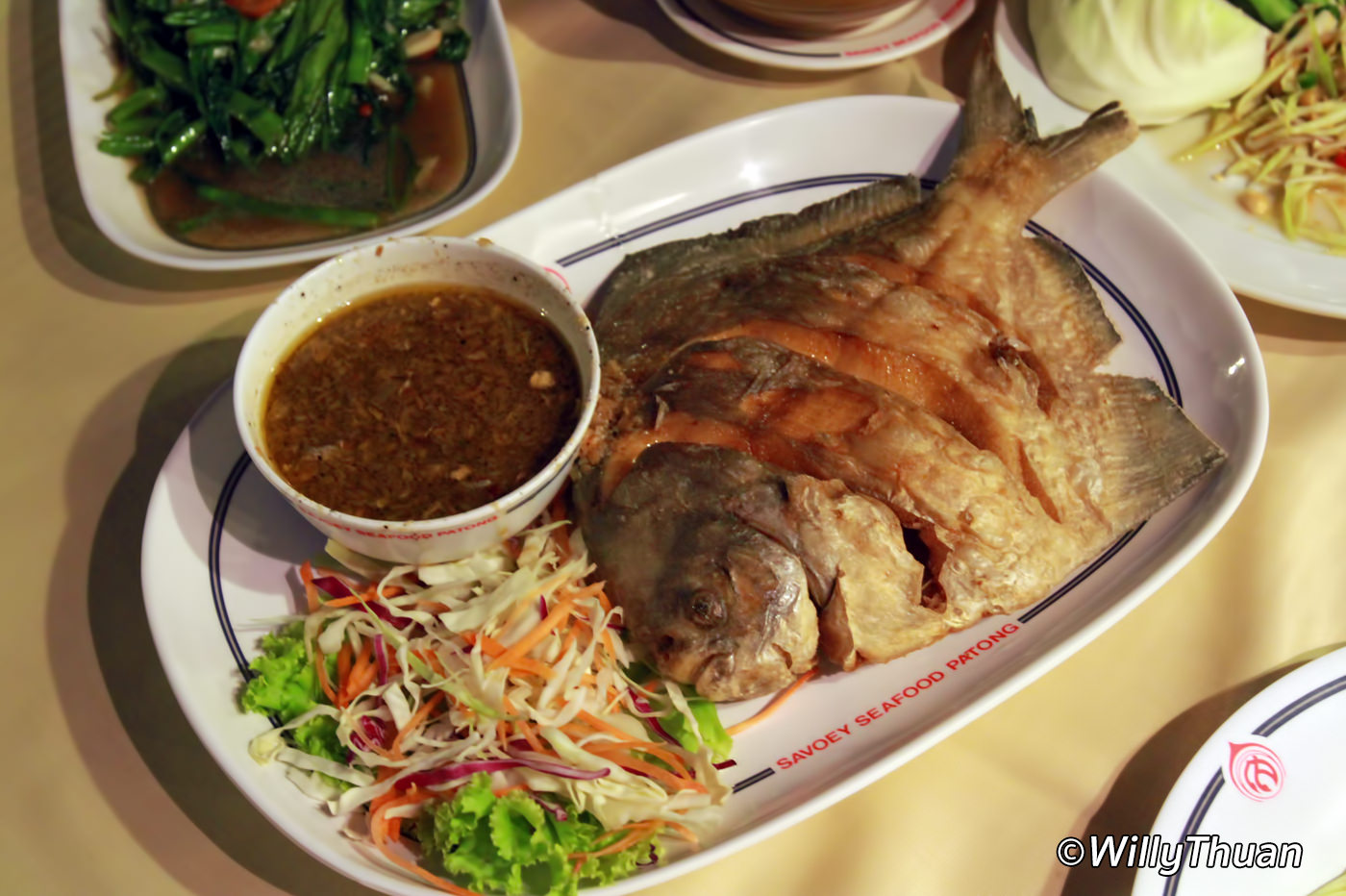 Savoey seafood restaurant in patong phuket 101 for Fish 101 menu