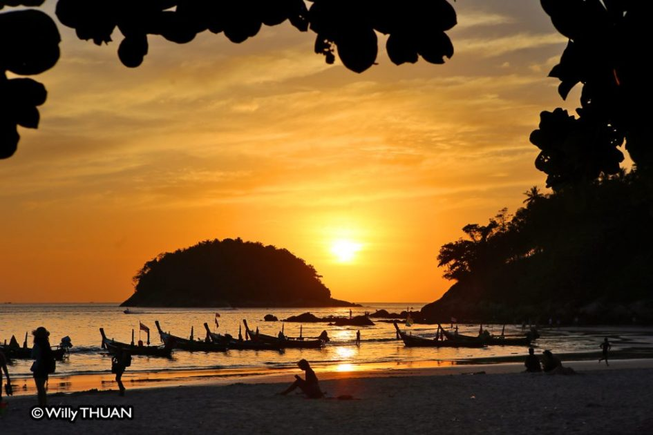Sunset on the island Ko Pu