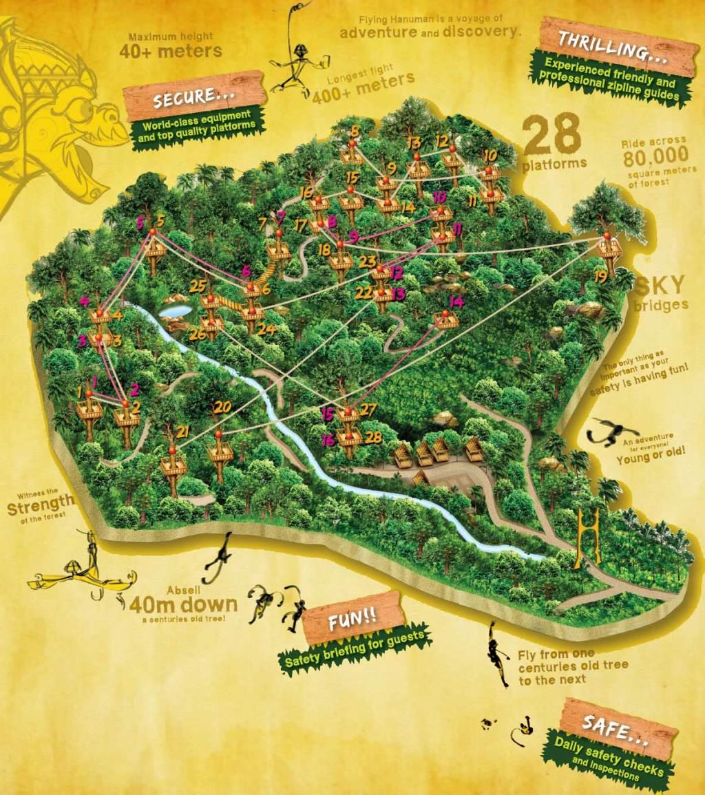 Flying Hanuman Map