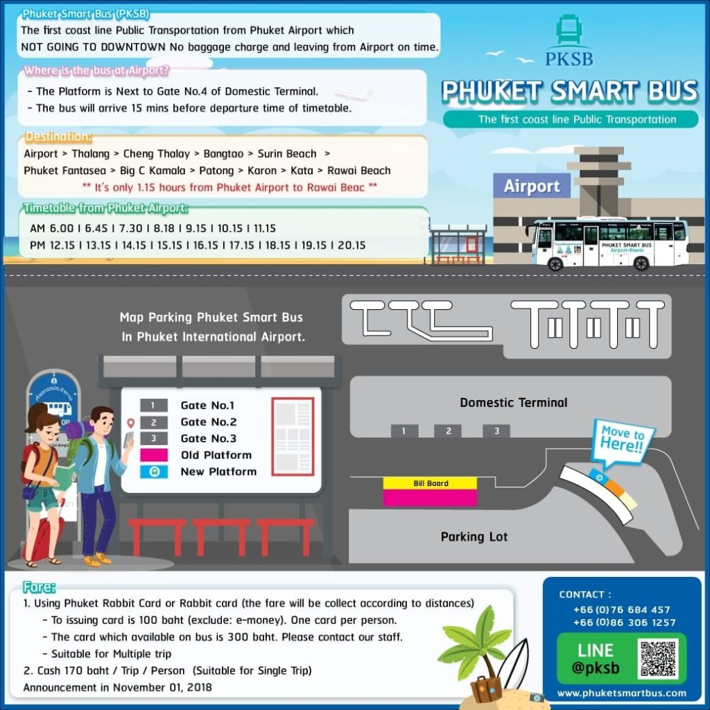 Where to catch the Smart Bus at Phuket Airport