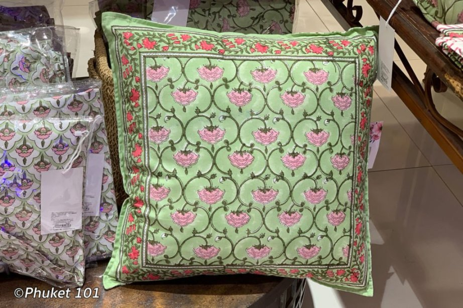 Shopping for Cushion Covers in Phuket Tthailand