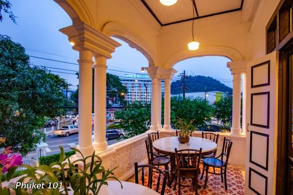 Thai restaurant terrace in Phuket Town