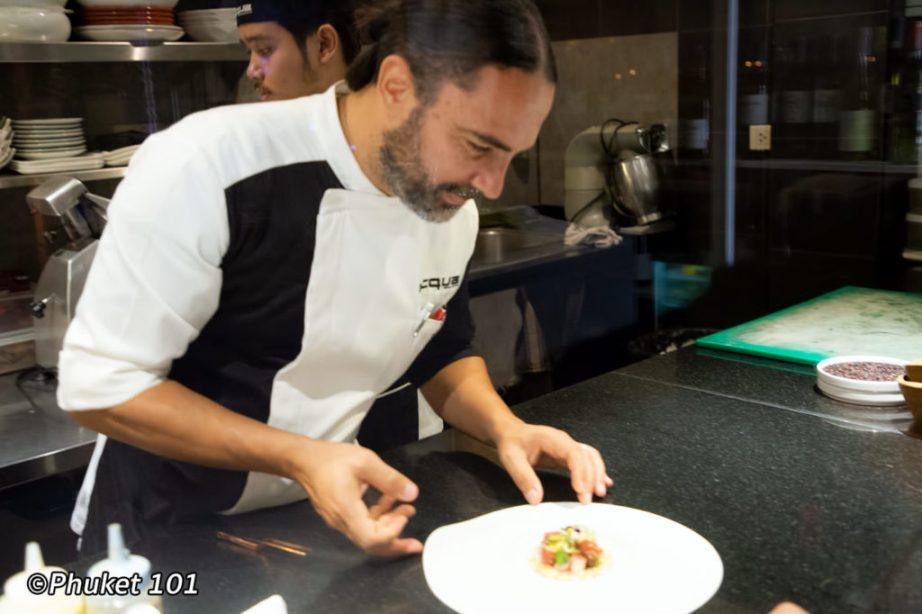 Chef Alessandro at Acqua
