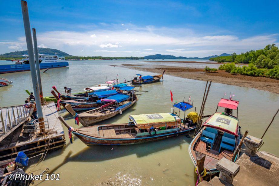 Longtail boats at Laem Hin Pier