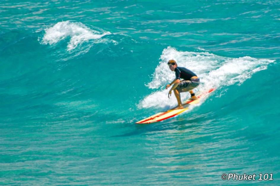 Surfing in Kata Noi Beach