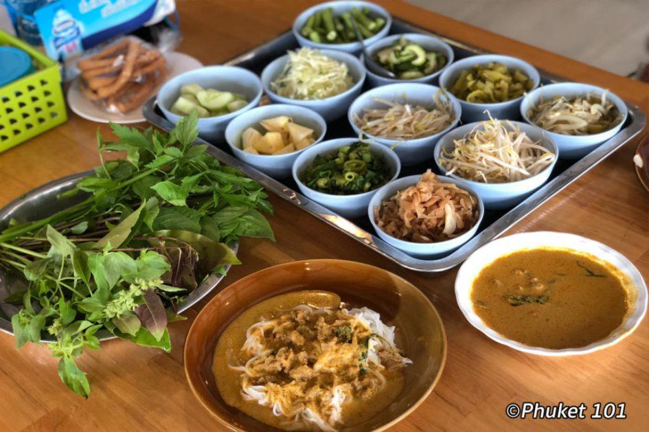 Kanom Jeen Sapan Hin in Phuket Town