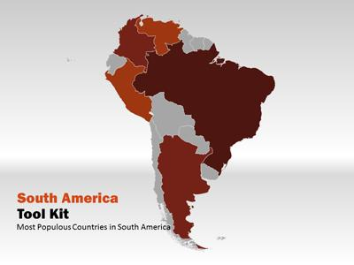 South America Map Tool Kit   A PowerPoint Template from     South America Map Tool Kit   A PowerPoint Template from PresenterMedia com
