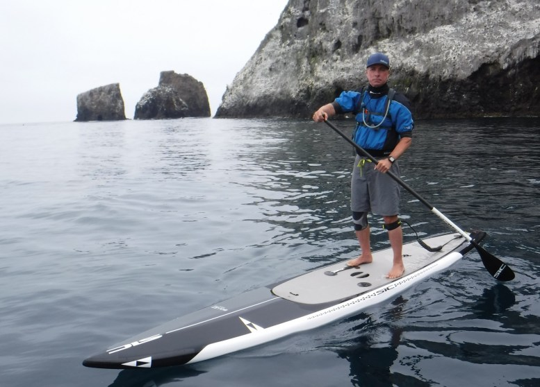 Holm developed a passion for paddleboarding, and he was paddling around San Nicolas Island on the day this spring when thousands of human remains were reburied on the island.