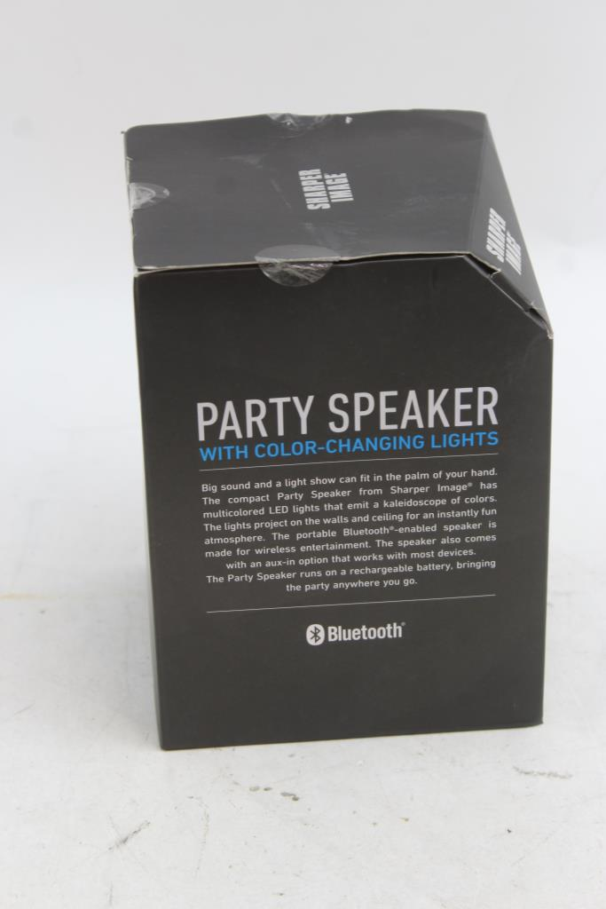Led Light Sharper Image Bluetooth Speakers