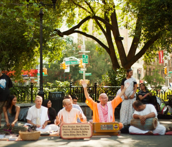 hare krishnas in Union Sq NYC