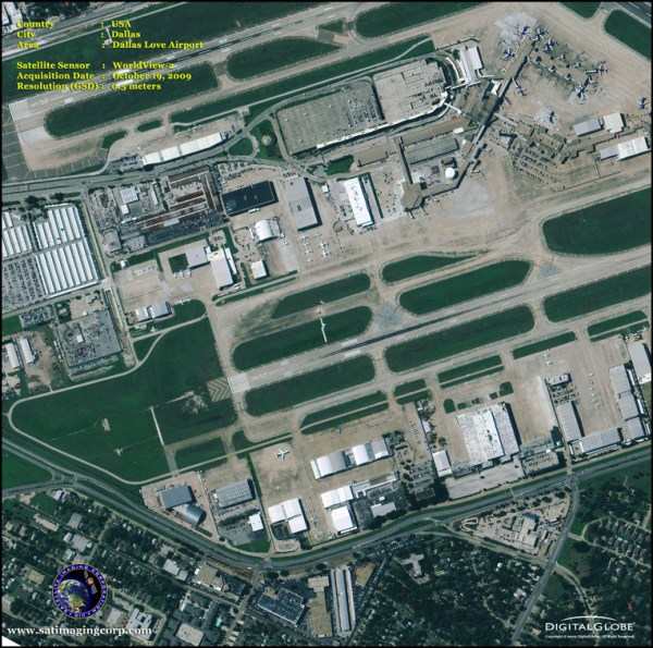 WorldView-2 Satellite Image of Love Field Airport ...
