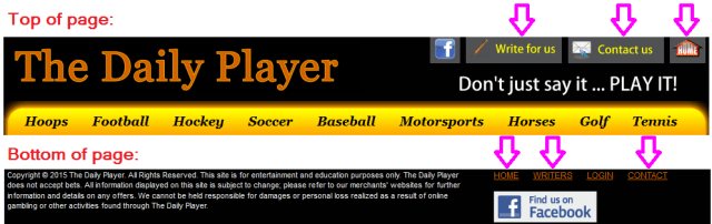 Daily Player navigation buttons