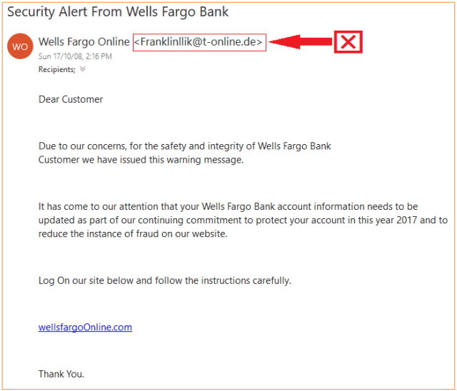phishing text example