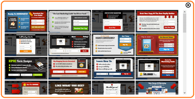 MyMailIt squeeze page templates