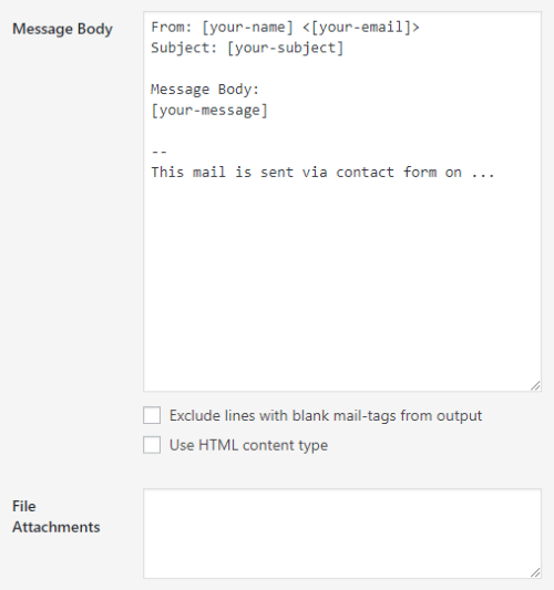 File did not show as an attachment on email | WordPress org
