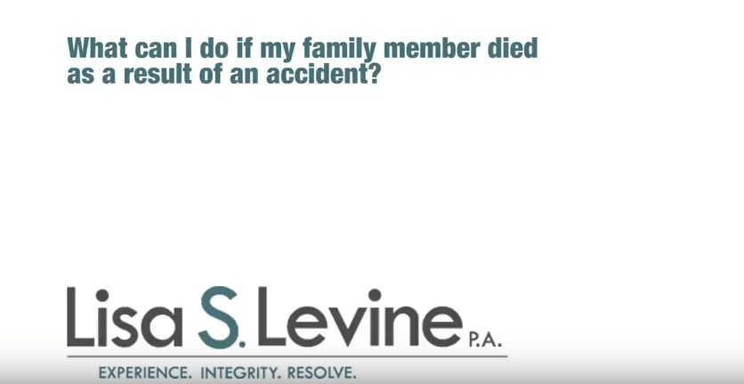 What can I do if my family member died as a result of an accident?