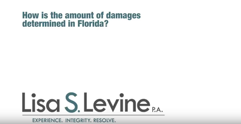 How is the amount of damages determined in Florida personal injury cases?