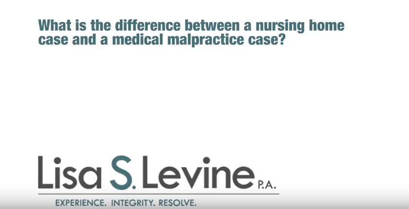 What is the difference between a nursing home case and a medical malpractice case?