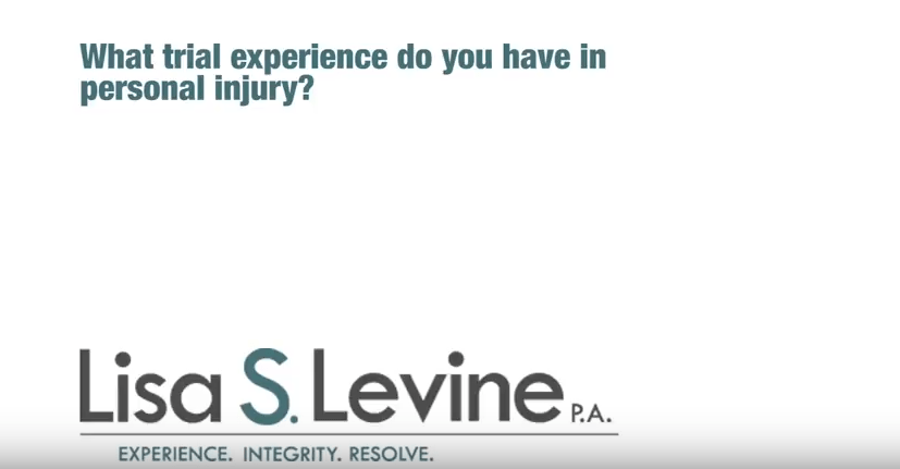 What trial experience does Lisa Levine have in personal injury?