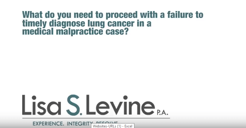What do you need to proceed with a failure to timely diagnose lung cancer in a medical malpractice case?