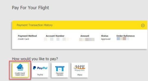 add-ons payment cebu pacific