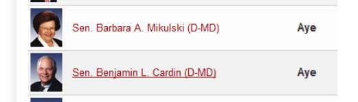mikulski and cardin voted yes --- vote them out!