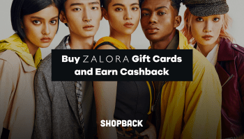 Earn Cashback when you buy Zalora Gift Cards