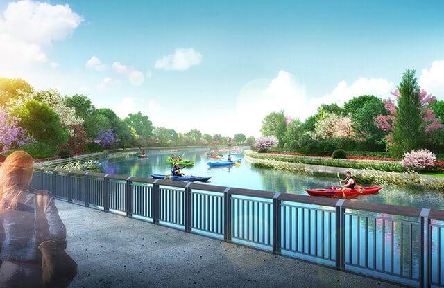 豐原葫蘆墩公園湖景平台示意圖