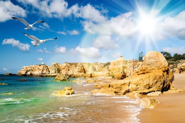 A sandy beach near Albufeira