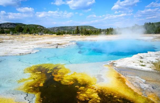 Yellowstone, um dos parques nacionais mais belos dos EUA.