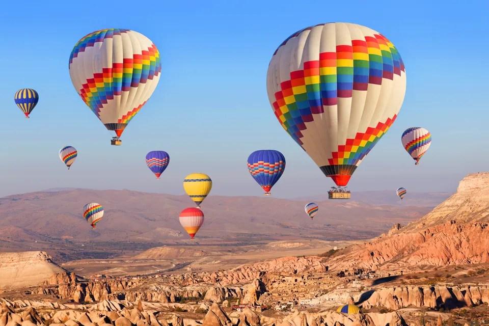 Ballonger over Cappadocia i Tyrkia