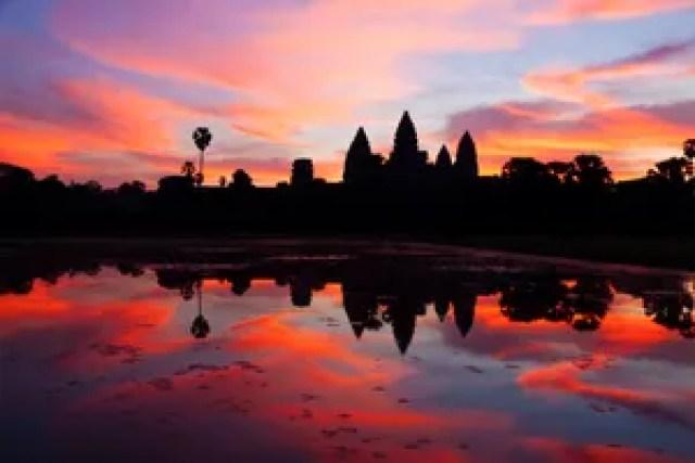 Templo de Angkor Wat, no Camboja.