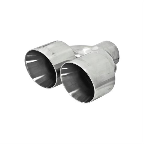 flowmaster 15391 exhaust tip 2 5 in inlet i d 10 in length