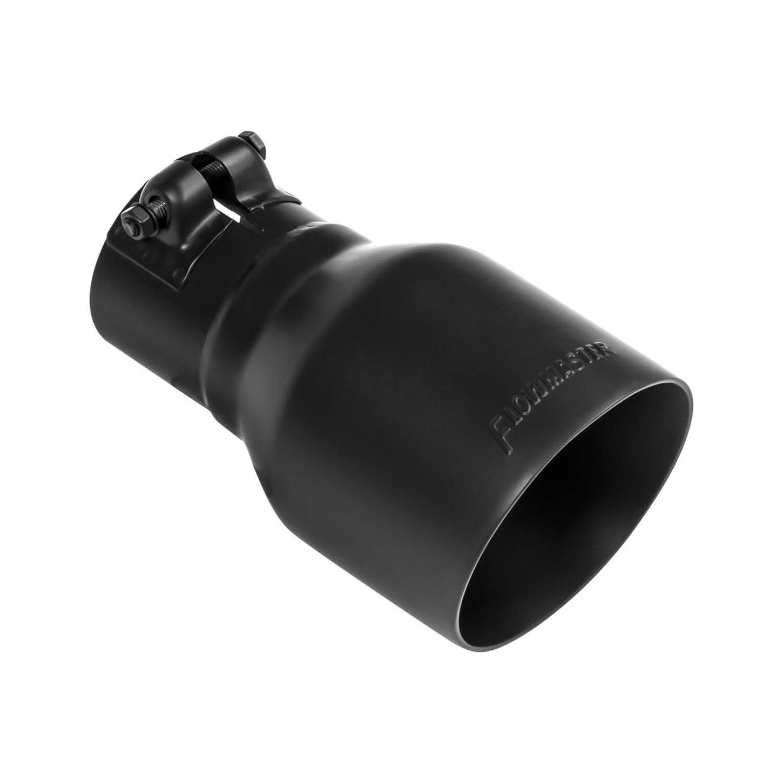 flowmaster 15396b 4 in exhaust tip black ceramic fits 2 5 in