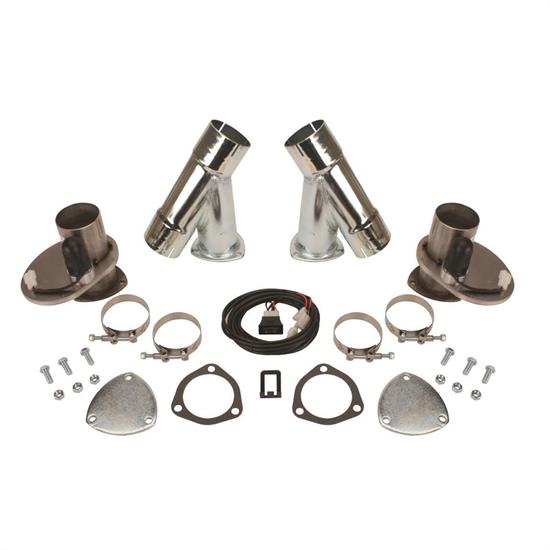 dougs headers dec250ak steel electric exhaust cut out kit 2 5 inch