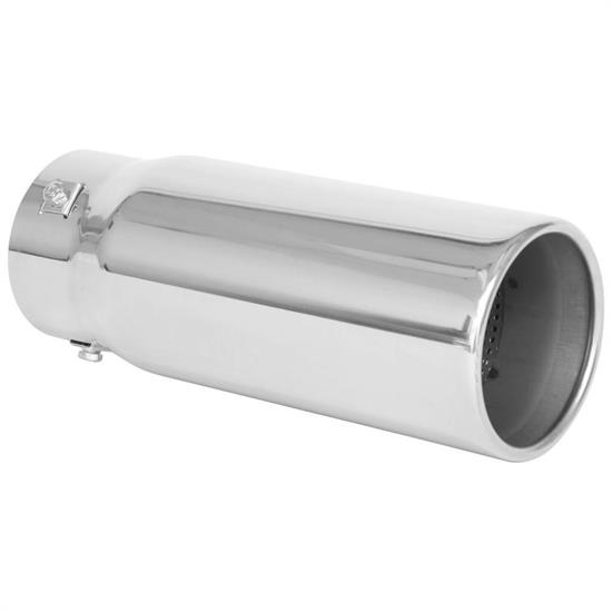 spectre 25556 exhaust tip stainless 3 inlet 4 outlet straight