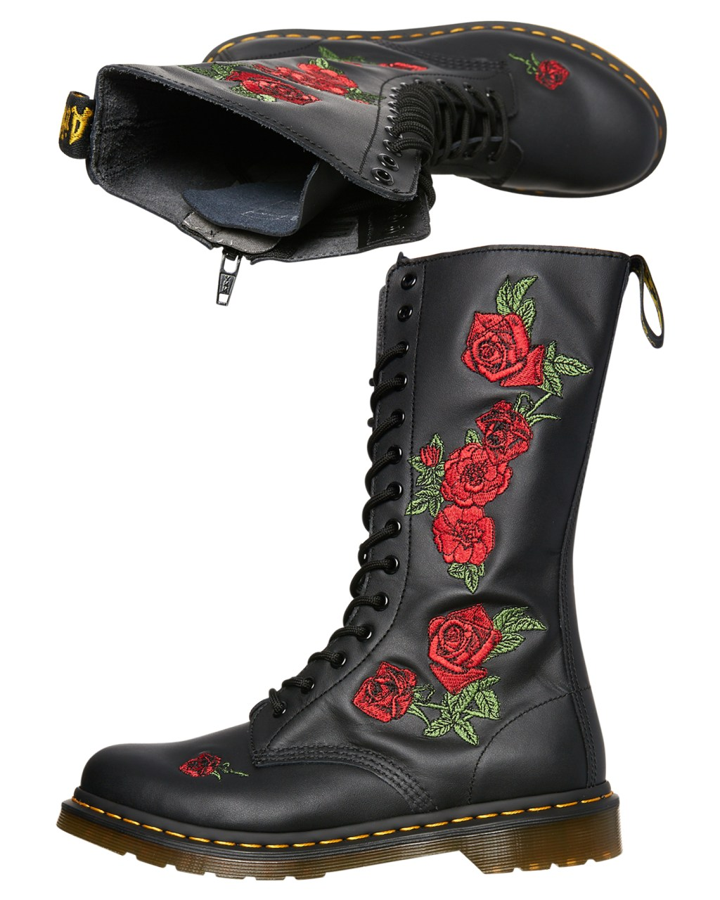 5b92808ef181 Dr. Martens Womens Vonda 14 Eye Boot Black Womens Boots Size 5 ...
