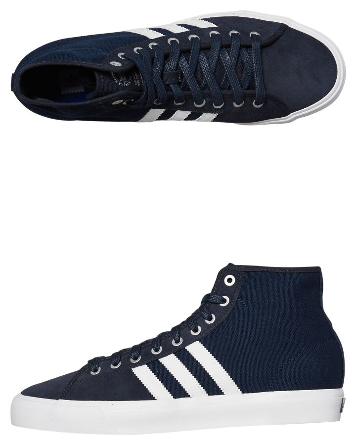 low priced cce33 9261d Adidas Mens Matchcourt High Rx2 Shoe Night Navy White Night Navy White
