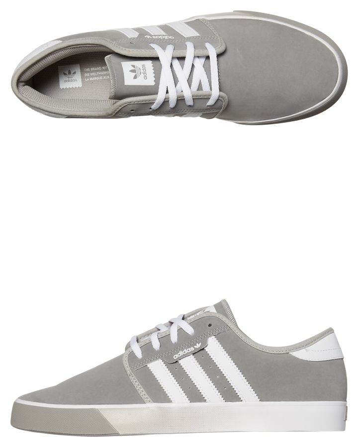 c157e13519c6 Adidas Mens Seeley Shoe Solid Grey White Womens Sneakers Size 14 ...