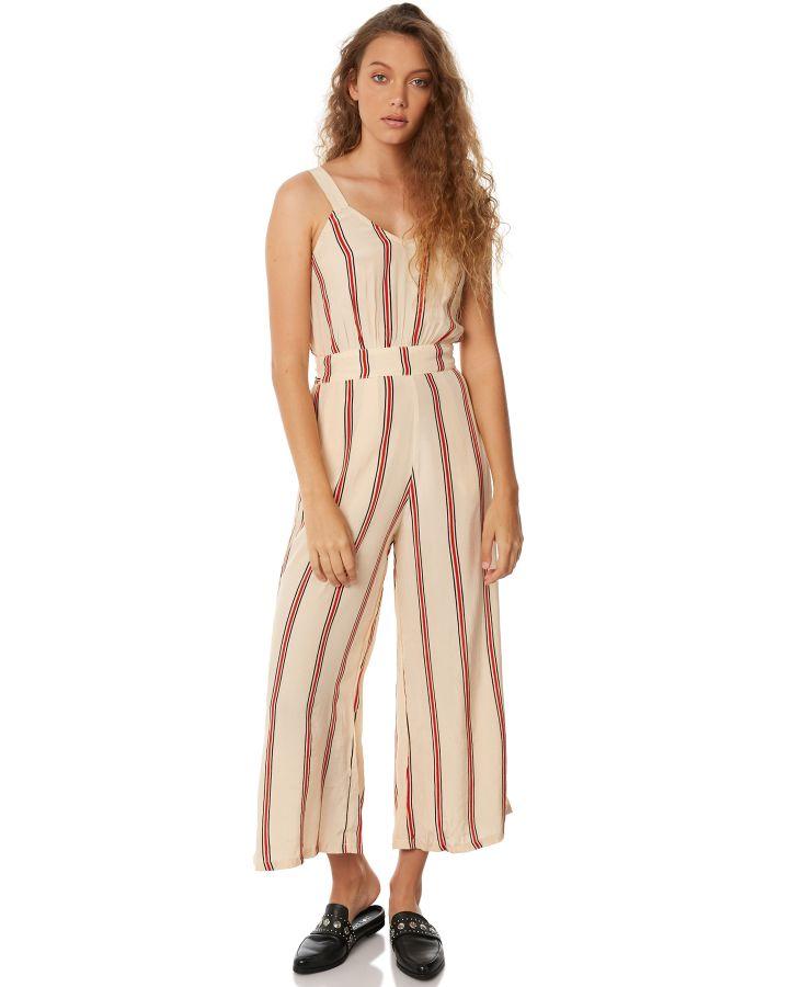 92beb533bc3 Rue Stiic Los Altos Jumpsuit Sand Red Stripe Playsuit Size L ...