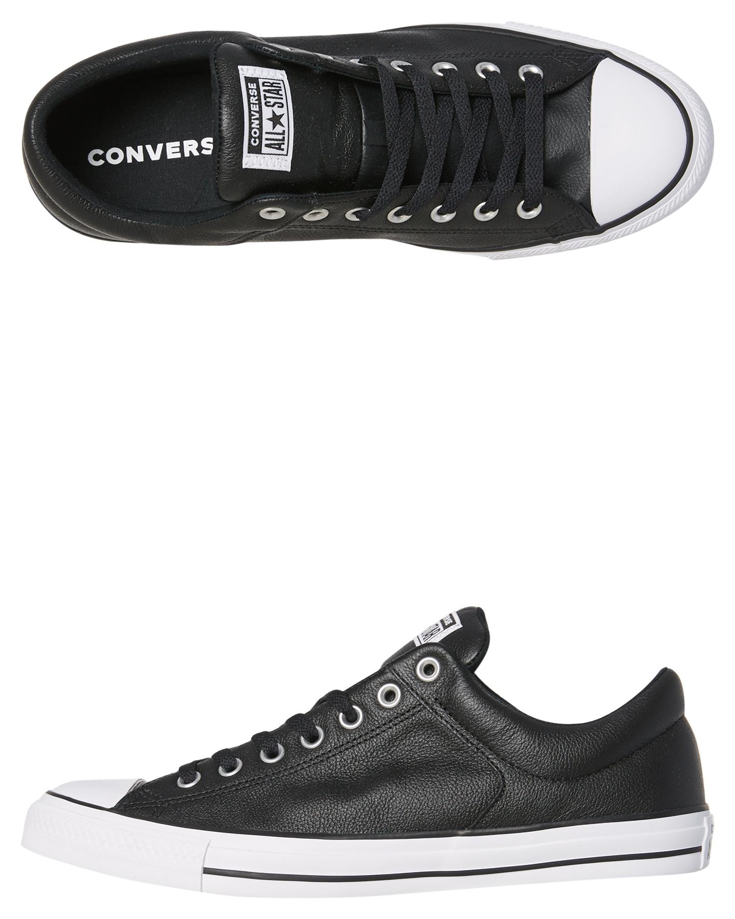 4e9603beba7c Converse Mens Chuck Taylor All Star Street Leather Shoe Black Womens ...